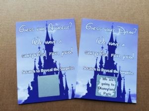 Personalised Surprise Disney Holiday Reveal Scratch Card